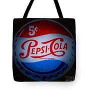 Pepsi Cap Sign Tote Bag