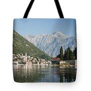 Perast In Kotor Bay Montenegro Tote Bag