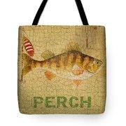 Perch On Burlap Tote Bag