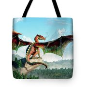 Perched Dragon Tote Bag