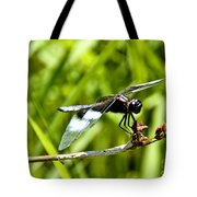 Perched Widow Skimmer Tote Bag