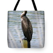Perching Cormorant Tote Bag