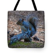 Perching Squirrel Tote Bag