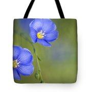 Perennial Flax Flowers Tote Bag