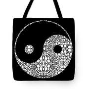 Perfect Balance 2 - Yin And Yang Stone Rock'd Art By Sharon Cummings Tote Bag