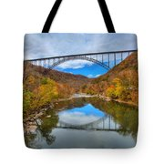 Perfect Reflections Of The New River Gorge Bridge Tote Bag