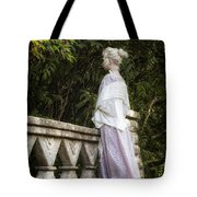Period Lady On Bridge Tote Bag