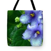Periwinkle African Violets Tote Bag