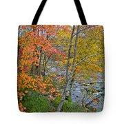 Perkiomen Creek - Perkiomenville Pa - Autumn Foliage Tote Bag