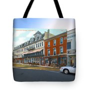 Perry House At Washington Square In Newport Rhode Island Tote Bag