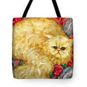 Persian Cat On A Cushion Tote Bag