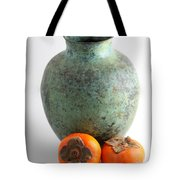 Persimmon With Vase Tote Bag