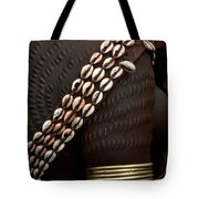 Person Showing Cowry Shell Detail Tote Bag