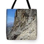 Person Walking Up Steep Stony Tote Bag