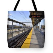 Perspective From The Series The Elements And Principles Of Art-- One Point Rail Tote Bag