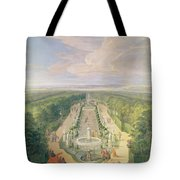 Perspective View Of The Grove From The Galerie Des Antiques At Versailles, 1688 Oil On Canvas Tote Bag