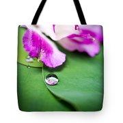 Peruvian Lily Raindrop Tote Bag