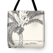Pestonjee Bomonjee Sitting In His Palm-tree And Watching The Rhinoceros Strorks Bathing Tote Bag