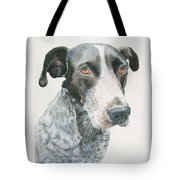 Pet Portrait Dog Art Print Hire Commission Pet Portrait Artist Tote Bag