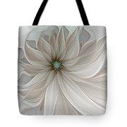 Petal Soft White Tote Bag