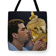 Pete Sampras Tote Bag by Paul Meijering