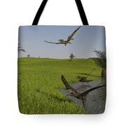 Peteinosaurus Reptiles On The Shore Tote Bag