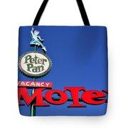 Peter Pan Motel Tote Bag