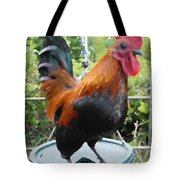 Petey The Old English Game Bantam Rooster Tote Bag