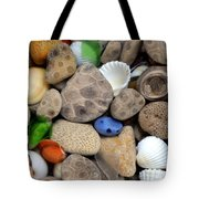 Petoskey Stones Lll Tote Bag by Michelle Calkins