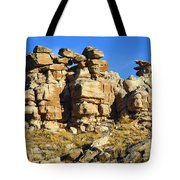 Petrified Forest Rock Formations Tote Bag