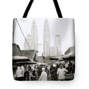 Petronas Over Kampung Baru Tote Bag