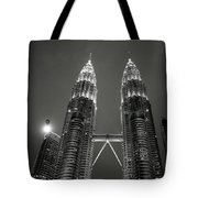 Petronas Towers At Night Tote Bag