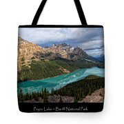 Peyto Lake Poster Tote Bag