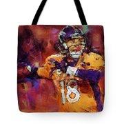 Peyton Manning Abstract 2 Tote Bag by David G Paul