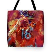 Peyton Manning Abstract 3 Tote Bag by David G Paul