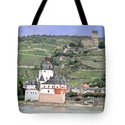 Pfalzgrafenstein With Burg Gutenfels  Tote Bag