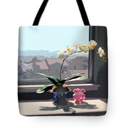 Phalaenopsis Orchid In Sunny Window Tote Bag