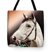 Phantom Lover Race Horse Looking On Tote Bag