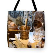 Pharmacist - Brass Mortar And Pestle Tote Bag