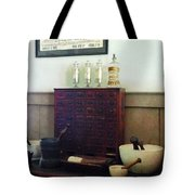Pharmacist - Desk With Mortar And Pestles Tote Bag