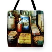 Pharmacy - Cough Remedies And Tooth Powder Tote Bag