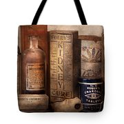 Pharmacy - Cures For The Bowels Tote Bag by Mike Savad