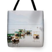 Phewa Lake In Pokhara Nepal Tote Bag