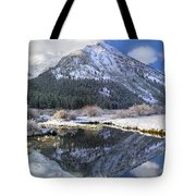 Phi Kappa Mountain Reflected In River Tote Bag