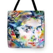 Phil Ochs - Watercolor Portrait Tote Bag