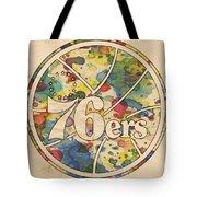 Philadelphia 76ers Retro Poster Tote Bag