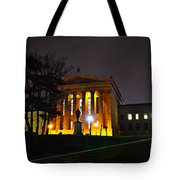 Philadelphia Art Museum  At Night From The Rear Tote Bag