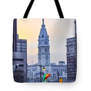 Philadelphia Cityhall In The Morning Tote Bag