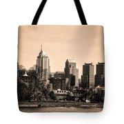 Philadelphia Cityscape In Sepia Tote Bag