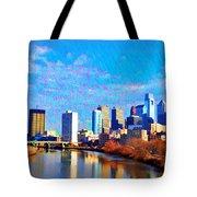 Philadelphia Cityscape Rendering Tote Bag